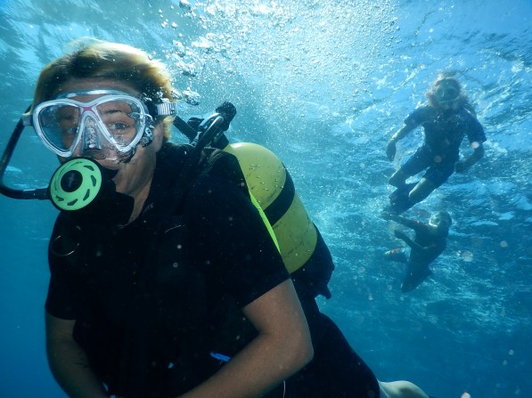 Rachel's first dive in Cuba - Rio Hondo