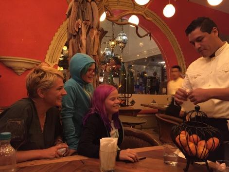 Our waiter cum magician at Casa Luna, Tlaquepaque