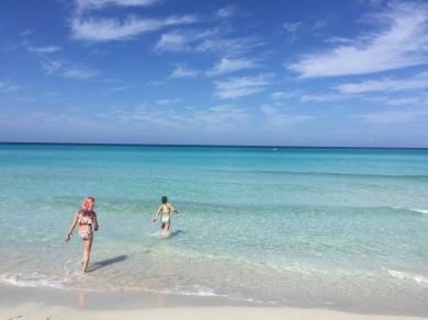 The inviting waters of Playa Varadero