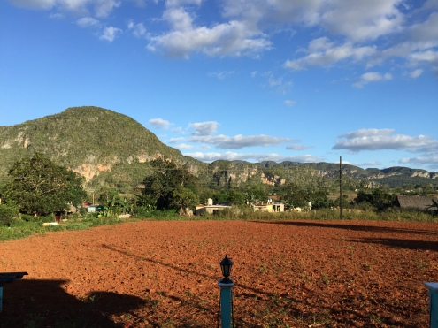 Stunning Valle de Viñales from our Casa