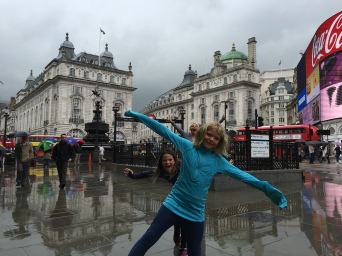 Ruby photo bombed in Piccadilly Circus
