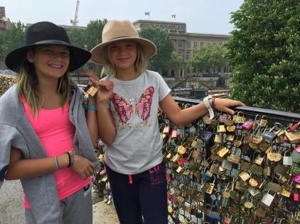 Love locks at Pont Neuf