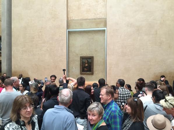 Typical scene surrounding the Mona Lisa