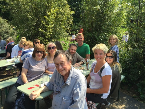 Lunch with Colin, Susan, Sarah and Dom in Regent's Park